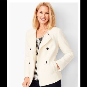 Talbots Double-breasted Boiled Wool Jacket NWOT